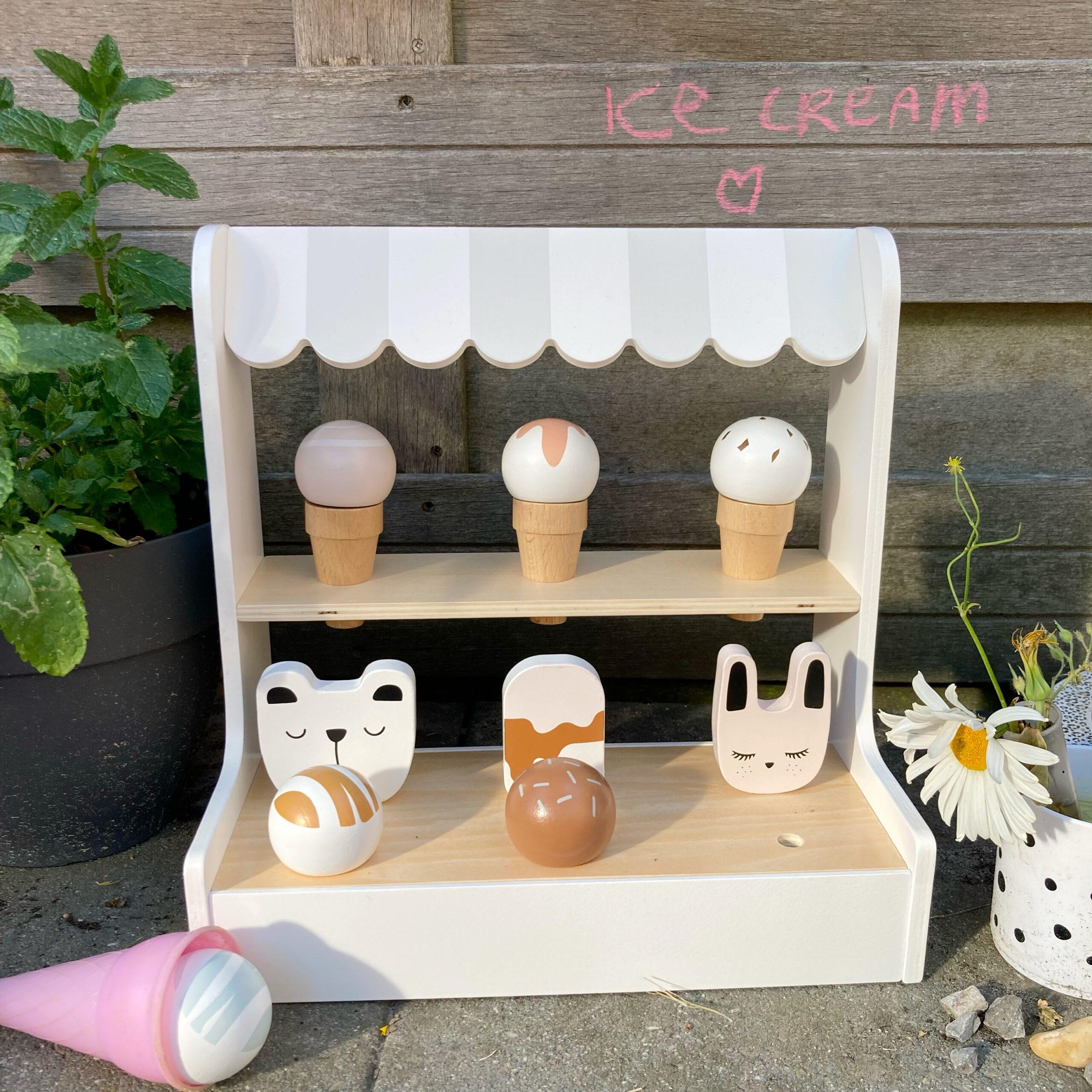houten speelgoed ijskraampje petite amelie