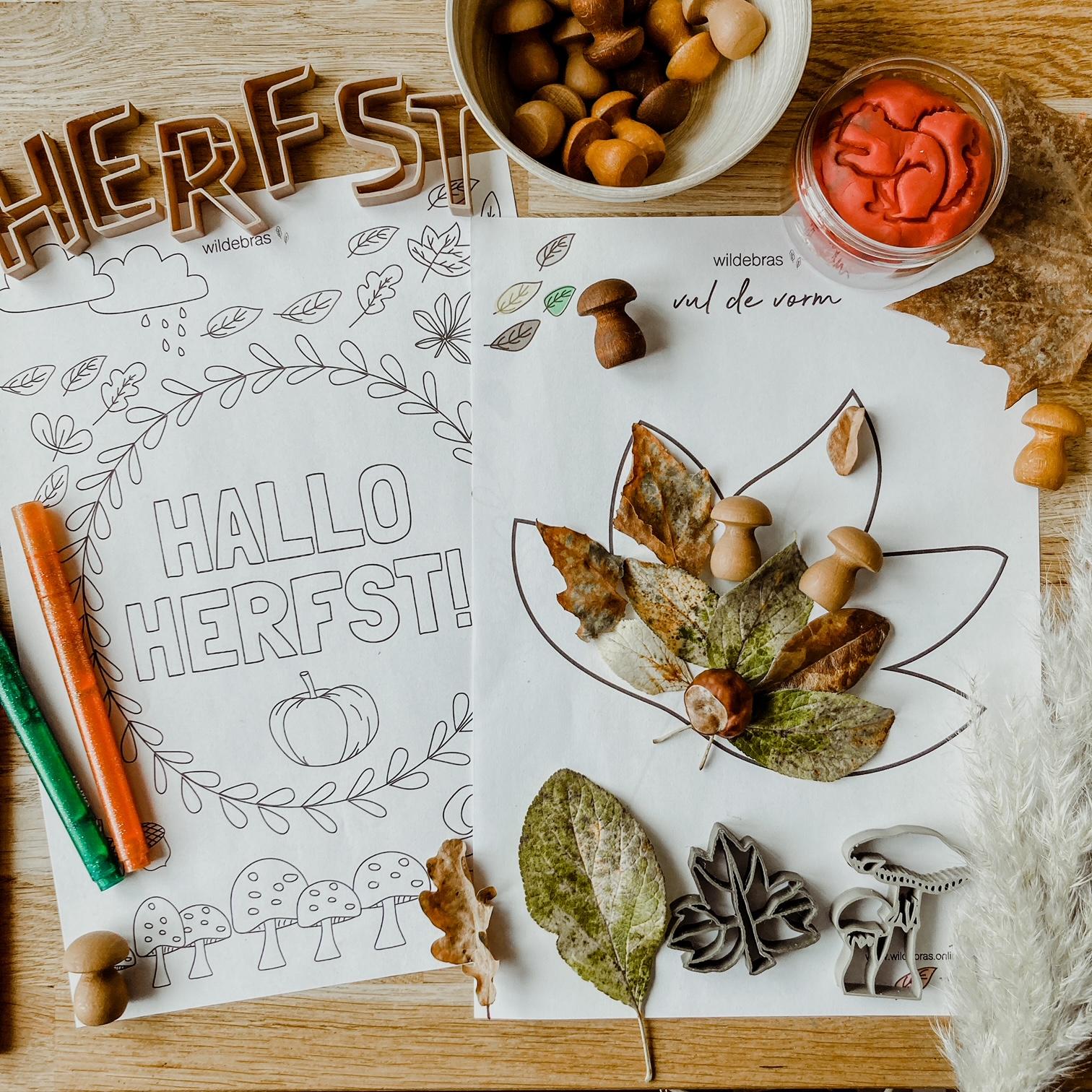 herfst knutselen printables gratis download